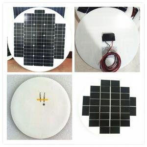 Quality High Efficiency Round Solar Panels , Rollable Solar Panel Bear Wind Pressure for sale