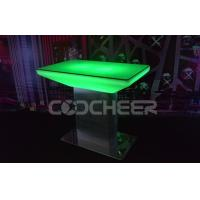 China Home High Bar Led Cocktail Table With Metal Legs , PE Plastic on sale
