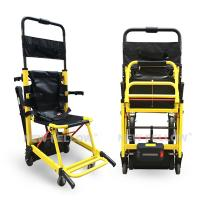 China Yellow Stair Climbing Wheelchair Ambulance Electric Stair Chair Stretcher on sale
