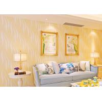 China Yellow Soft Breathable Non Woven Wallpaper / House Decoration Wallpaper on sale