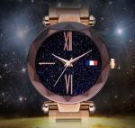 HM D4D5 Fashion Japanese Movement Milan Women Ladies Magnetic Stainless Steel Strap Star Night Wrist Watch