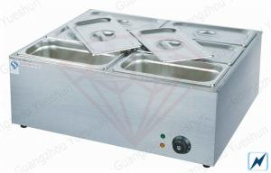 China Free Standing 6 Pan Electric Bain Marie For hot food , 700x600x280mm on sale