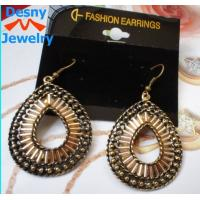 Newest big large American indian golden teardrop dangle drop earrings