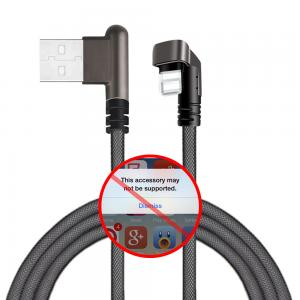 China High Speed Iphone 5s USB Data Cable For Fast Charging Nylon Braided 2.1A on sale