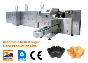 China 1.5kw Waffle Cone Production Line / Ice Cream Cone Baking Machine with Double Layered Panel Door on sale