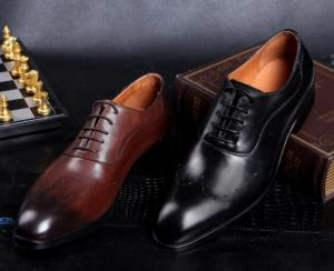 China Fashion Men Formal Dress Shoes , Brogue Hidden High Heel Leather Footwear For Mens on sale
