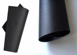 China Single Side 120 Gsm Black Paper Reels / Black Paper Board Sheets Standard Size on sale