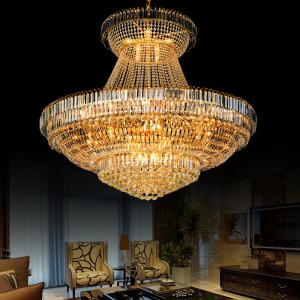 China Large metal crystal chandelier for Hotel Home Project DIY Pendant lamp (WH-NC-10) on sale
