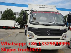 China foton 130hp cold room truck for sale, hot sale foton Aumark refrigerated truck for sale, 2019s new cold room truck on sale