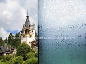 China Dingxin Decorative Window Films , Frosted  rose glass flim,Static cling window film 45,60,90,122 width on sale