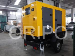 China 30kw lister petter generator price of 40kva diesel generator set with trailer on sale