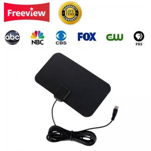 China Indoor 1.5 VSWR 25dBi 80 Miles Amplified TV Antenna on sale