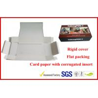 1000g Grey Rigid Board Folding Magnetic Gift Packaging Boxes , Offset Printed Pen Gift Packaging Boxes