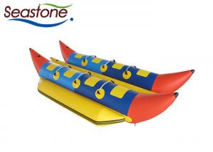 China Double Tubes Flying Fish Banana Boat 0.9mm 380cm PVC Material Towed By Motor Boat on sale