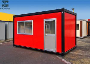 China Red Flat Pack Container House , Single Container House For Living / Administration on sale