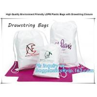 Biodegradable Environment friendly LDPE Plastic bags with DRAWSTRING closure bags, backpack, drawtape bag, essentials