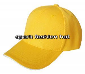 Quality Выполненное на заказ 100% акриловая желтая пустая бейсбольная кепка без логотипа for sale
