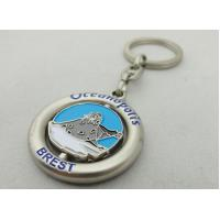 Customized Metal Spinning Key Chain, Zinc Alloy Die Casting Promotional Keychain