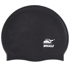 China Black Silicone Swimming Hats Non Toxic For Men , Silicone Swim Cap on sale