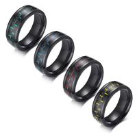 China Special Luxury His And Hers Carbon Fiber Rings Carbon Fiber Stainless Steel Material on sale
