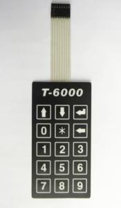 China 0.6mm Stroke Polyester Rubber Keypad Membrane Switch Panel With Femal Connector on sale