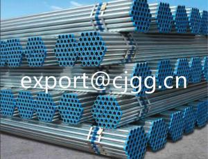 China Tubo galvanizado sumergido caliente de la presión baja, tubería de acero negra inconsútil roscada on sale