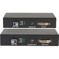 DVI-D Uncompressed Video Fiber Optic Extender With Audio