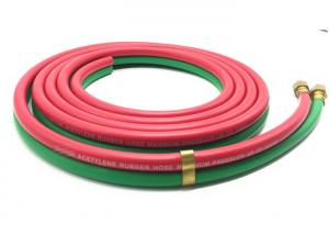 China Grade R 3 / 16 Inch x 25 FT Rubber Twin Welding Hose For American Market on sale