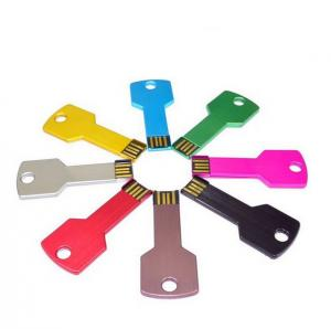 China Colorful Key shape metal usb flash drive 2G,4G,8G,16G,32G  pen drive on sale