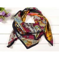 Ladies 2013 Fashion 100% silk big/large Square Silk Scarf/red and purple flower carves for women