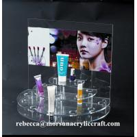 Clear Acrylic skin care cosmetic products Display can replace advertising paper