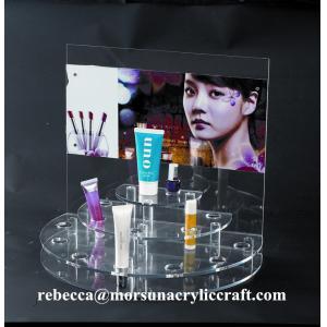 China Desk top acrylic cosmetic display rack / acrylic make-up display stand on sale