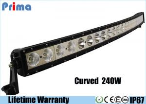 China 6000K 50 Inch LED Light Bar / PC Lens 21600lm Single Row 240w LED Light Bar  on sale