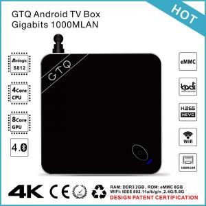 China GTQ Amlogic s812 Android 5.1 Quad Core Media Player w/ Gigabit Lan / H.265 Hevc supplier