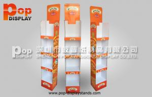 China Custom OEM  Corrugated Cardboard Display Stand 4 Tiers Light Duty Stand on sale