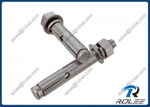 China 316 / A4 Stainless Steel Hex Nut Expansion Concrete Sleeve Anchors on sale