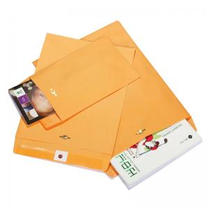 China 9 X 12 28lb Rigid Cardboard Envelopes Brown Kraft Clasp With Deeply Gummed Flaps on sale