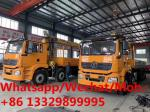 SHACMAN brand 8*4 LHD 336hp diesel 16tons telescopic crane boom mounted on truck for sale, cargo truck with crane