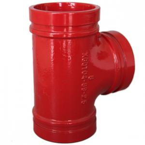 China Anti Rust Ductile Iron Grooved Pipe Fittings Grooved Plumbing T Joint / Water Pipe T Joint on sale