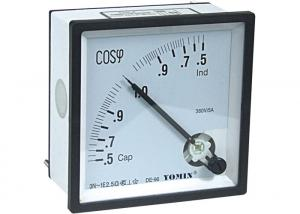China Three Phase Analogue Panel Meters , Selection of Power Factor Meter 96*96 on sale
