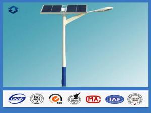 China 8m 2 つのパネルの 8 等級の地震に対する太陽街灯柱 160 Km/時間の風速 on sale
