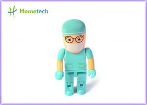 China Custom Made 8GB / 16GB Cartoon Character USB Drives / USB 2.0 Character Green on sale
