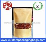 Kraft Stand Up Paper Pouches Bag For Sale / Resealable Zipper Brown Kraft Paper Bag