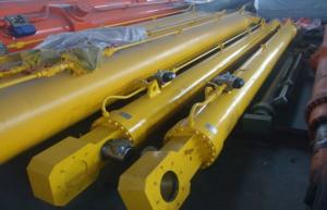 China Single / Double Acting Hydraulic Cylinder Flat Gate Hydraulic Hoist For Dump Truck on sale