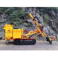 Crawler DTH rock drilling rig machine with hydraulic dry dust collector