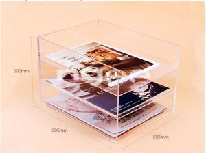 China Customized clear acrylic magazine organizer on sale