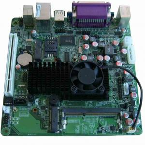 China Intel ATOM D525 HL-D525-DC IN-LF Mainboard with 12V DC Input on Board  on sale
