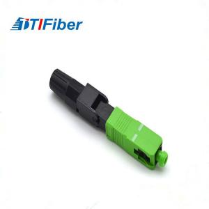 China UPC FTTH SC Single Mode Fiber Optic Connector 0.3db Insertion Loss 50N Tensile Strength on sale