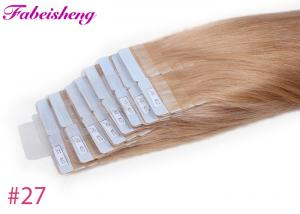 China 100 % Unprocessed Raw Wavy Tape In Hair Extensions Double Sewed Weft on sale
