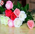China high quality single long stem artificial silk rose wholesale
